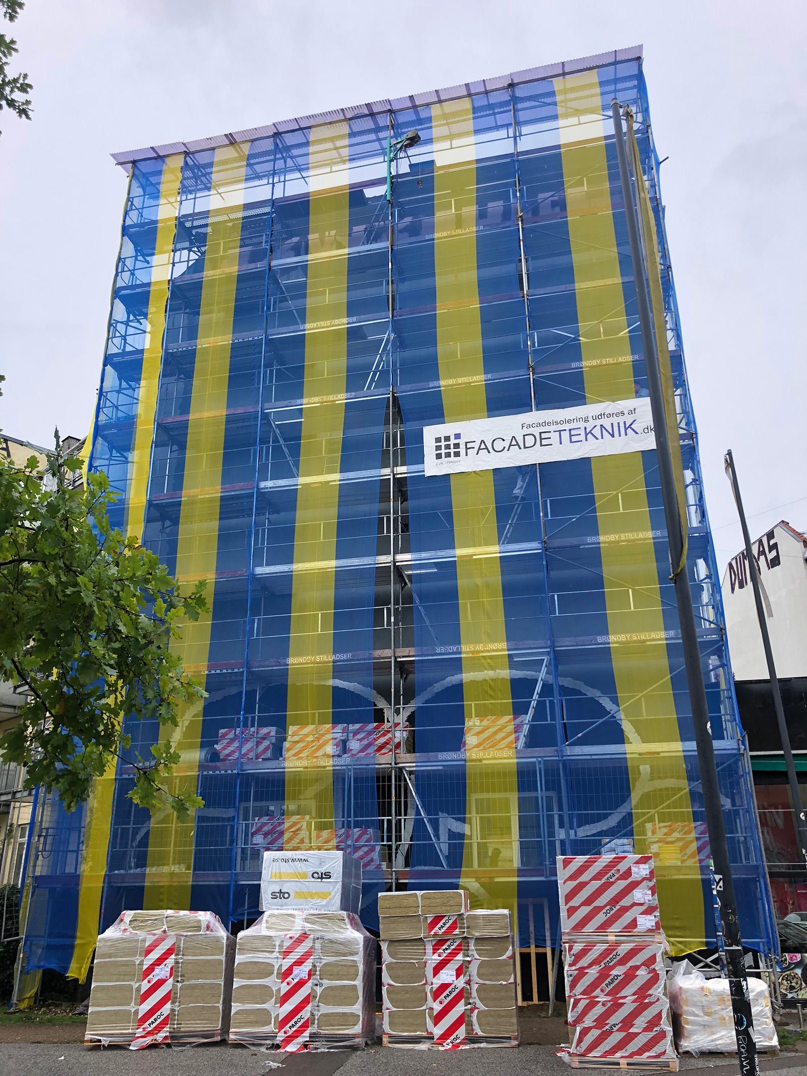 Isolering af gavl, Nørrebro